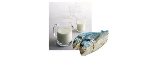 pesce e latte alimentazione